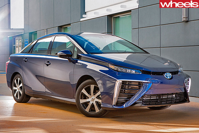 Toyota -Mirai -parked -outside -building