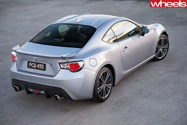 Silver -Toyota -86-rear