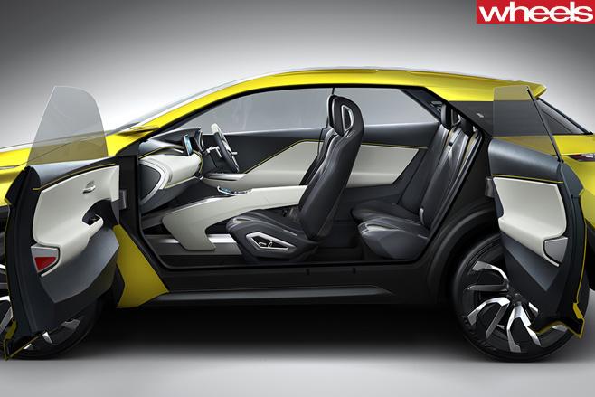Mitsubishi -EX-SUV-suicide -doors -open