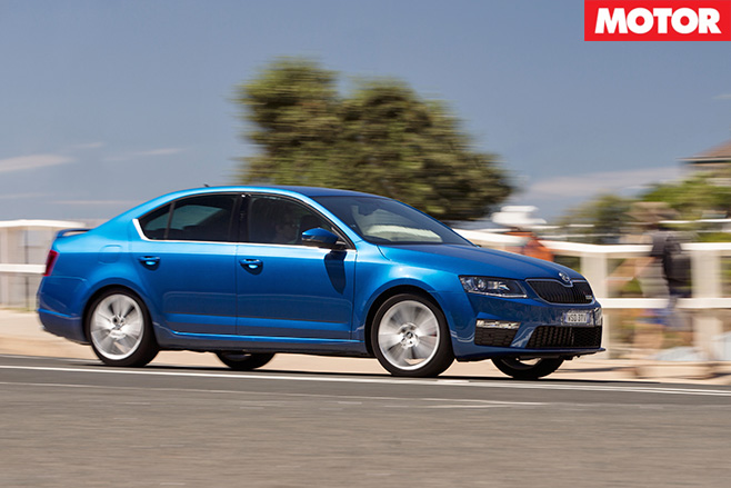 Skoda Octavia RS driving