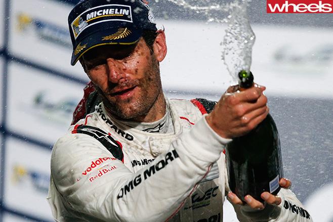 Mark -Webber -celebrating -win -on -podium