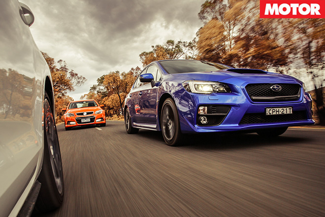 Wrx v commodore ss-v v golf gti driving 2