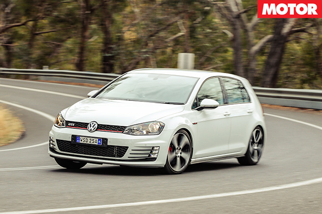 Volkswagen golf gti driving