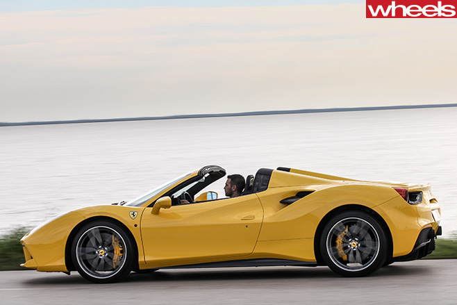 Ferrari 488 Spider Driving Side