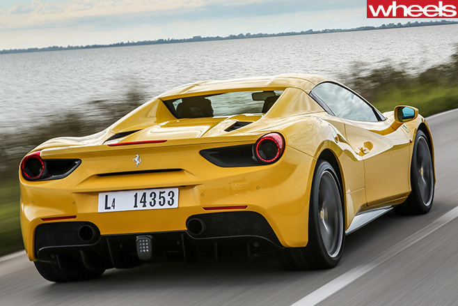 Ferrari -488-Spider -driving -rear