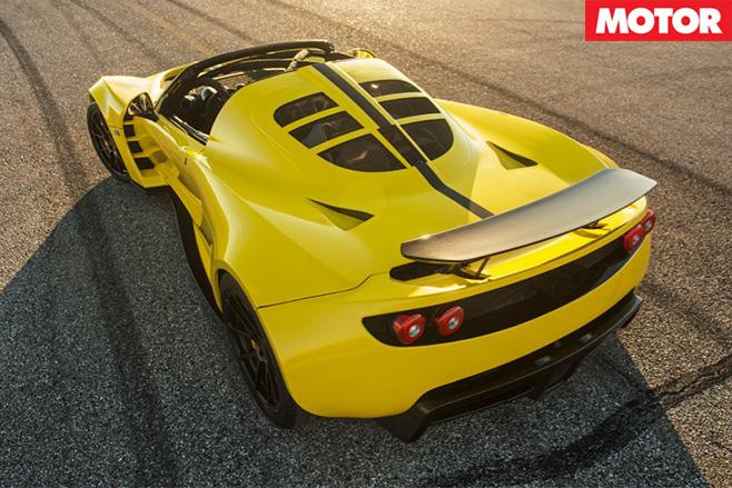 Hennessey Venom GT Spyder rear