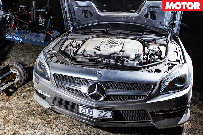 Mercedes Benz SL65 AMG engine