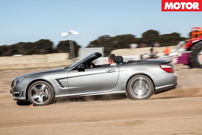 Mercedes Benz SL65 AMG driving