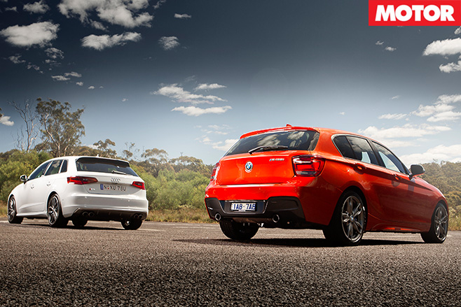Audi S3 Sportback vs BMW M135i rear