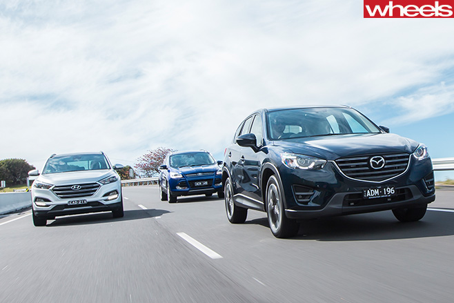 Ford Kuga Subaru Forester Mazda CX-5-Hyundai Tucson comparison review