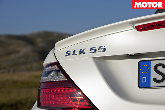 Mercedes amg slk55 badge