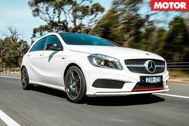 Mercedes benz a250 sport driving
