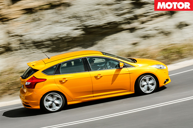 Ford focus st driving