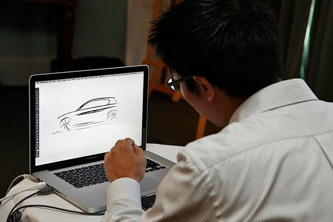 Calvin -Luk -Australian -Designer -sketching -the -new -BMW-X1