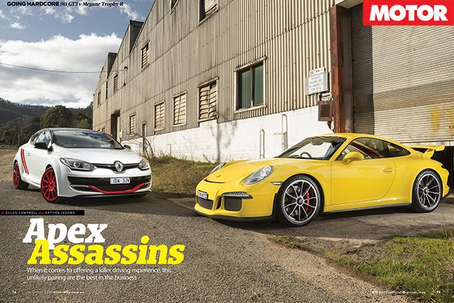 Porsche 911 GT3 vs Renault Trophy R