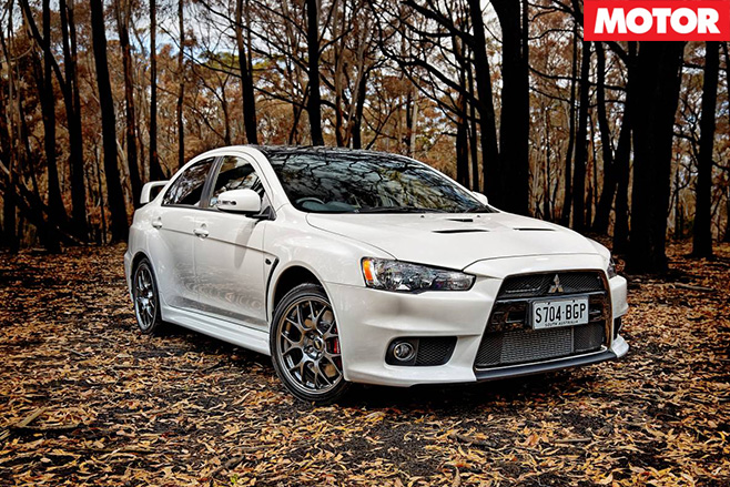 Mitsubishi Lancer Evo X Final Edition lands front