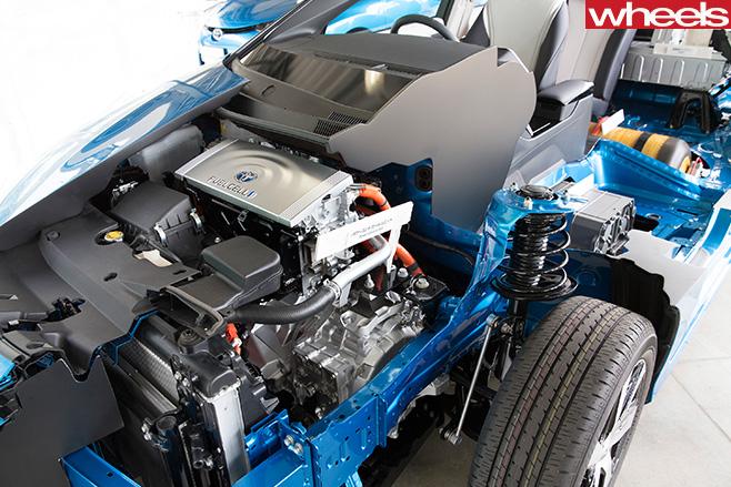 Blue -toyota -mirai -engine