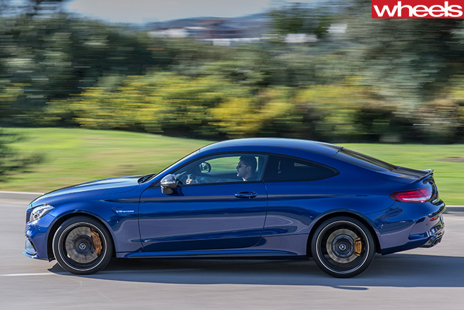 Mercedes -C63-Amg -Coupe -driving -side