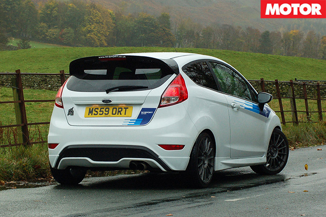 M-sport tuned ford fiesta st rear