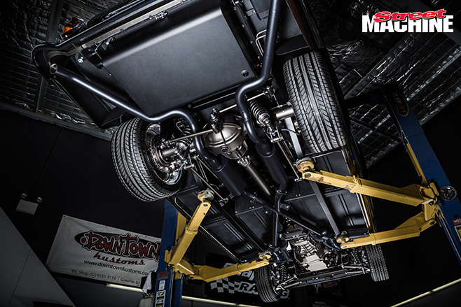 Down Town Kustoms FC ute undercarriage