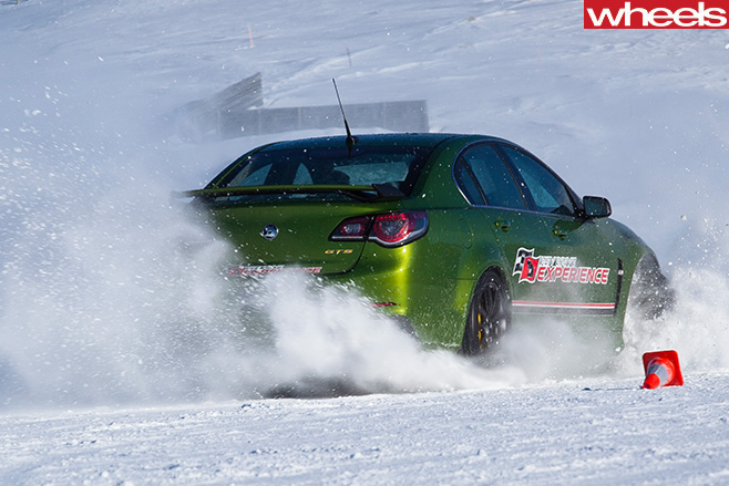 Green -HSV-GTS-rear -drifting -in -snow