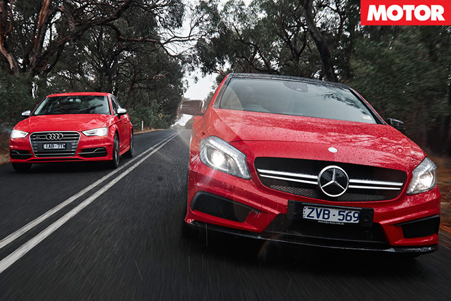 Audi S3 vs Mercedes-Benz A45 AMG