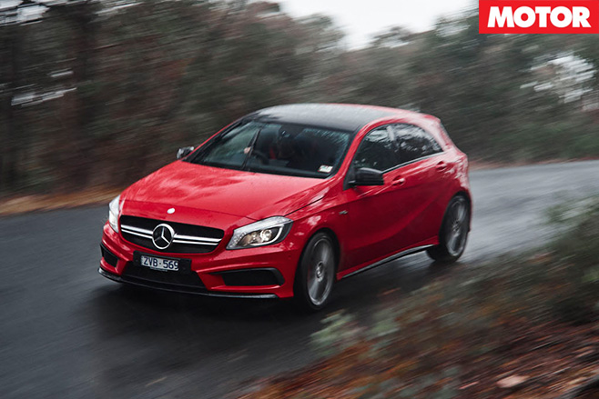 Mercedes-Benz A45 AMG driving
