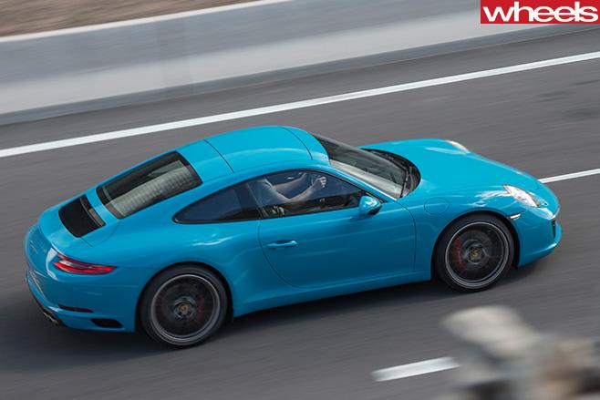 2016-Porsche -911-Carerra -top -side -driving