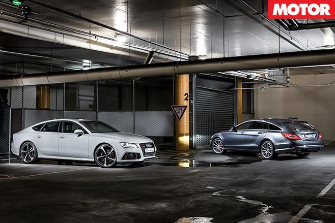 Audi rs7 v mercedes-benz cls63 s amg still