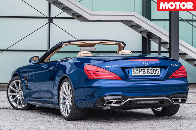 Mercedes Benz SL rear