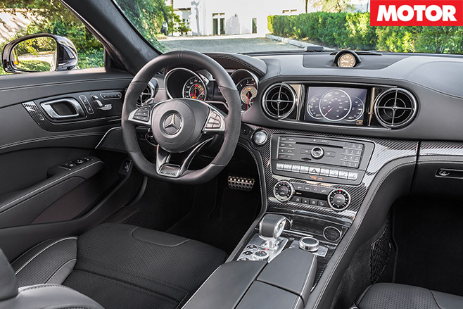 Mercedes Benz SL interior