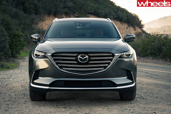 Mazda -CX-9-front -side -driving