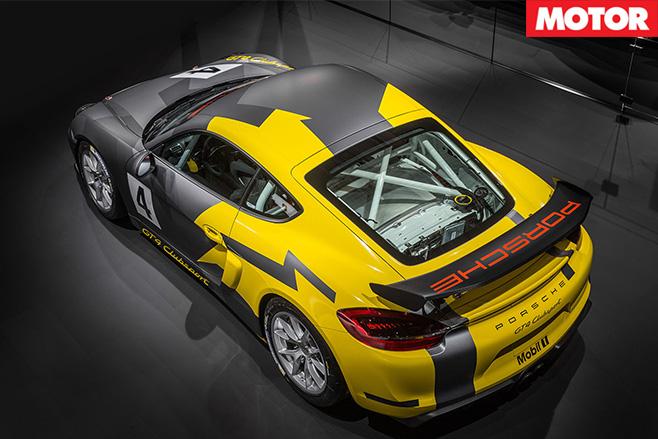 Porsche gt4 clubsport rear