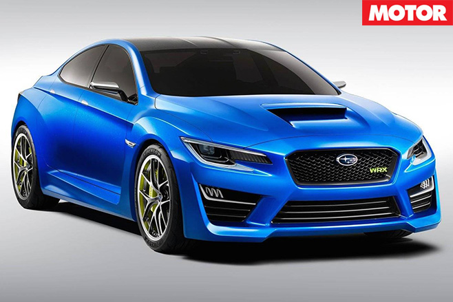 Subaru Impreza Concept blue