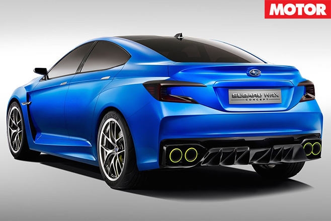 Subaru Impreza Concept blue rear