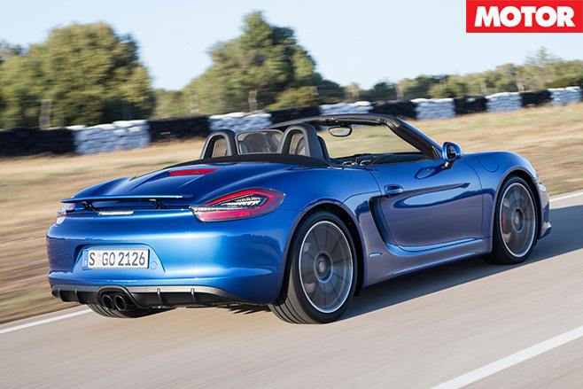 Porsche Boxster GTS rear