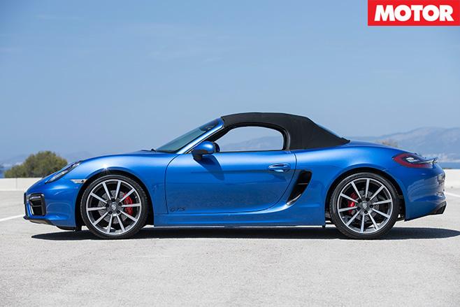 Porsche Boxster GTS side