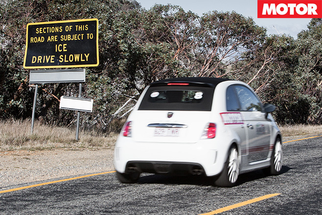 Abarth 500-C driving rear