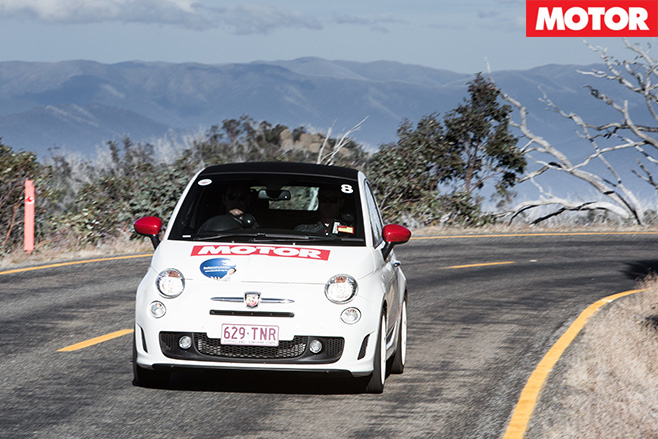 Abarth 500-C driving front