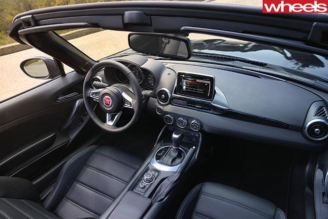 Fiat -124-spider -interior -top