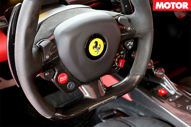 Ferrari LaFerrari steering wheel