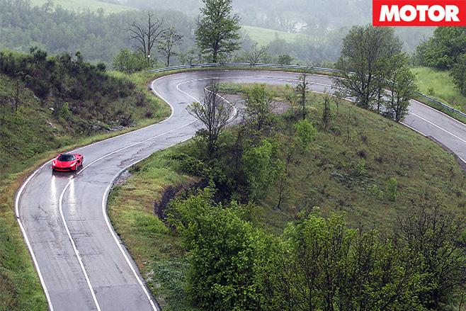 Ferrari LaFerrari driving