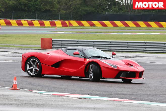 Ferrari LaFerrari turning