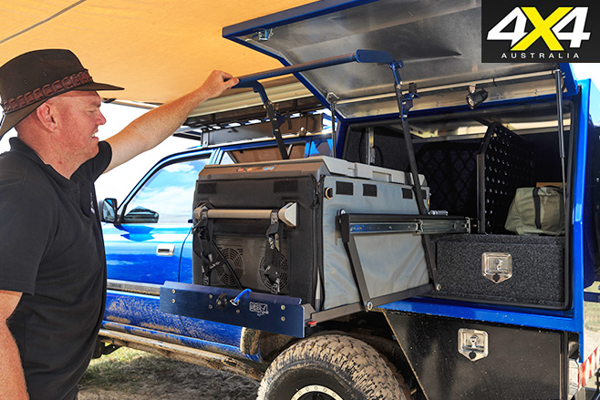 Custom toyota 80-series land cruiser compartments