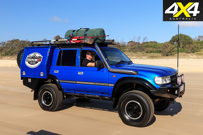 Custom toyota 80-series land cruiser sand driving