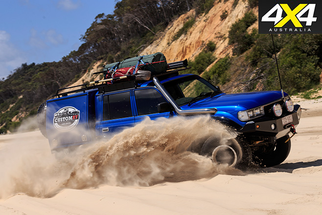 Custom toyota 80-series land cruiser sand