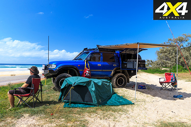 Custom toyota 80-series land cruiser camping