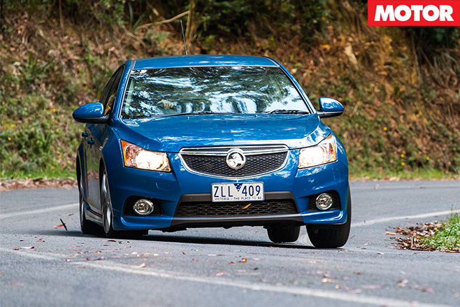 Holden cruze turning