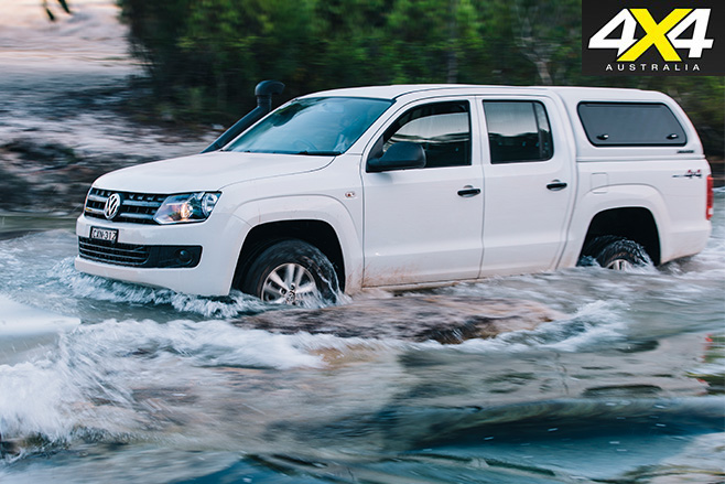 Volkswagen amarok driving through water
