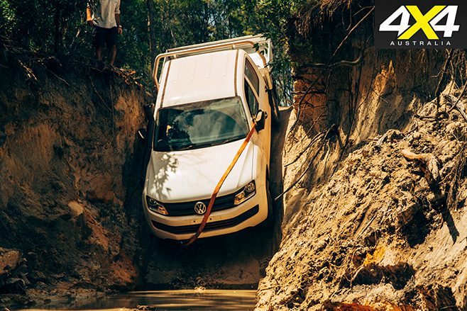Volkswagen amarok driving down gunshot creek